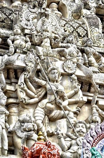 Devi at the Kamakshi Amman Temple, Kanchipuram