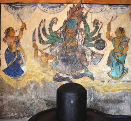 Devi Mural at Brihadeeswarar Temple, Thanjavur