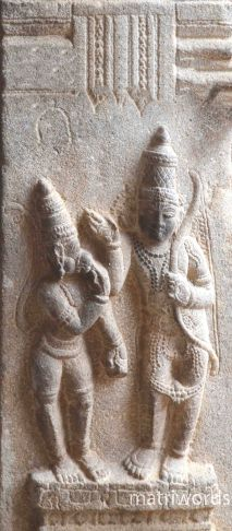 Ram and Hanuman, at Sri Ranganathaswamy Temple