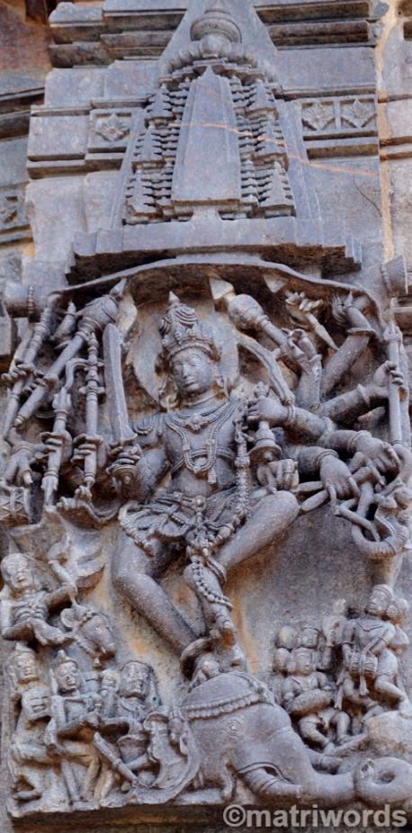 Gajasurasamhara at Belur