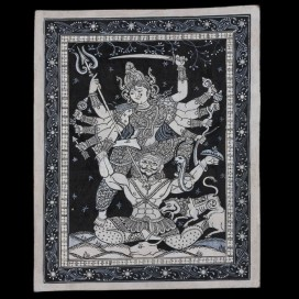 patachitra-painting-black-and-white-ma-durga