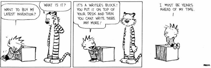 Writers Block-calvinandhobbes