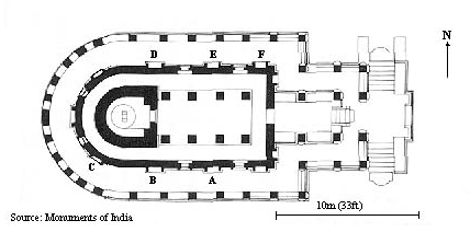Durga Temple Major Sculputure panel layout