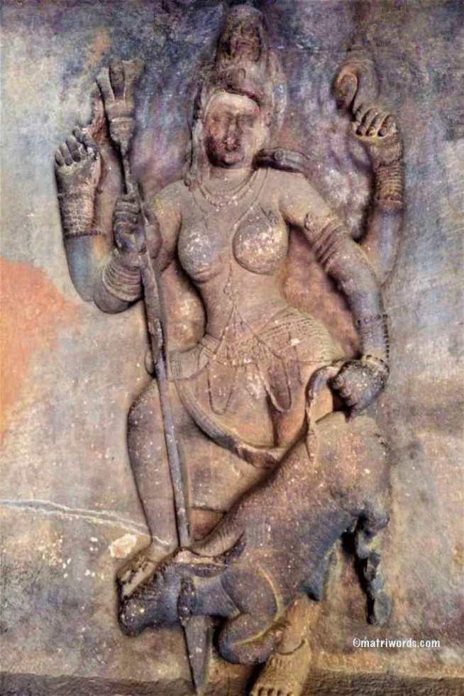 Mahishasuramardhini-Cave-1-Badami-org-683x1024