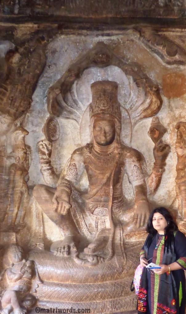 Seated Vishnu-Badami cave 3 -2