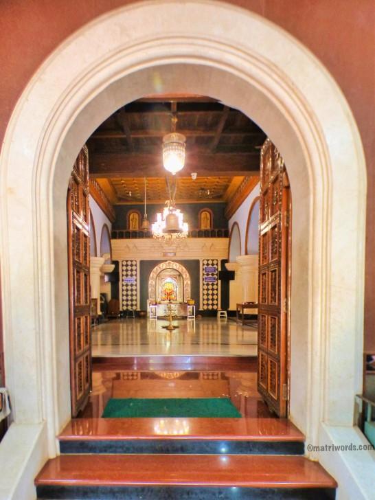 View of the garbhagriha, Devaki Krishna temple, Goa