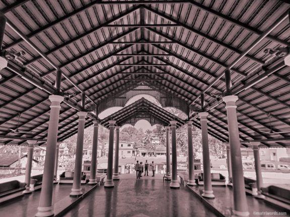 View from the main mandapam, Devaki Krishna temple, Goa