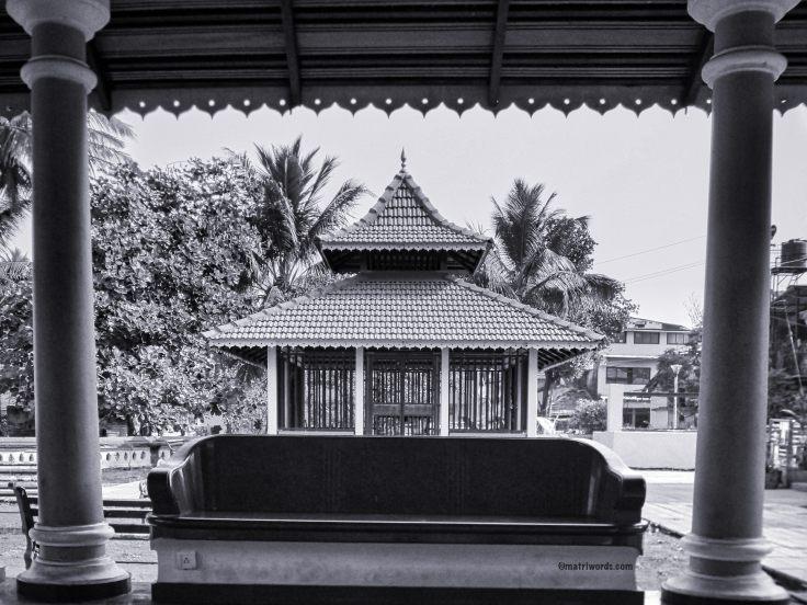 View from the porch of Devaki Krishna temple, Goa