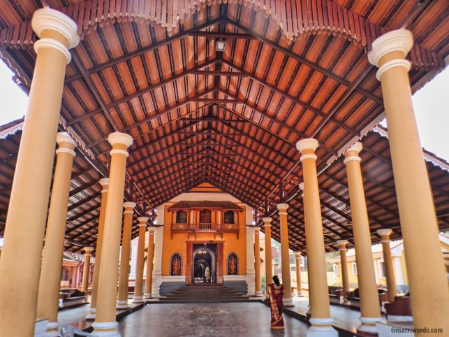 View from the entrance porch of the Devaki Krishna temple, Goa