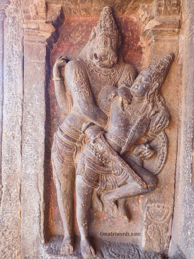 Vishnu as Narasimha, grappling with Hiranyakashyapu